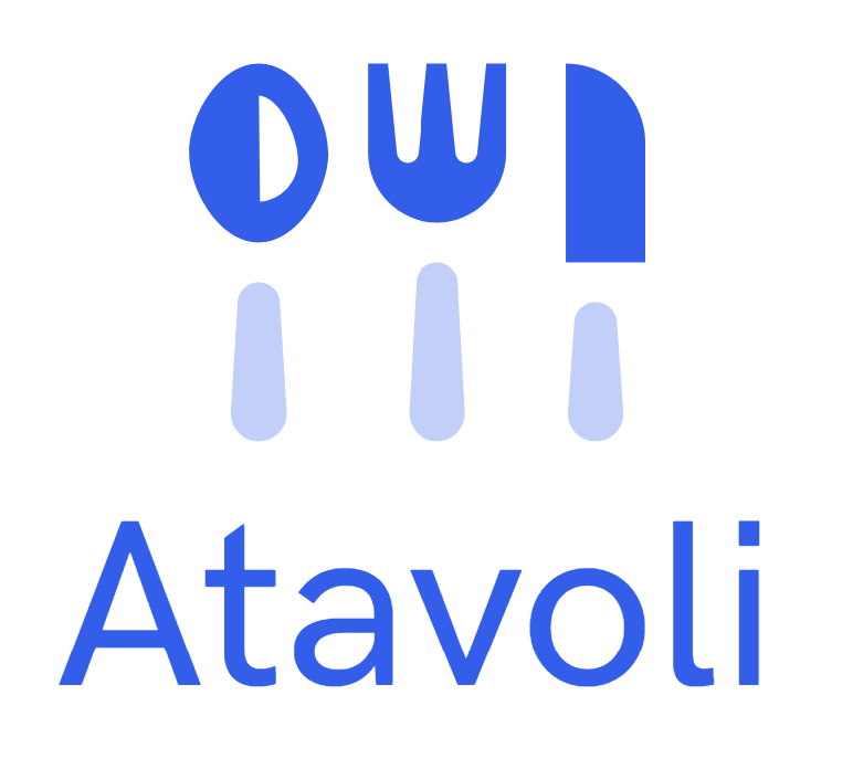 Atavoli Logo for Restaurant Point Of Sale and Restaurant Back Office, Bars, Cafes, Bistros, Diners, Bakeries, Food Trucks, Hotels, Bed and Breakfasts, Resorts, Night Clubs, Electronic Restaurant POS, Electronic Bar POS, Nightclub Electronic POS